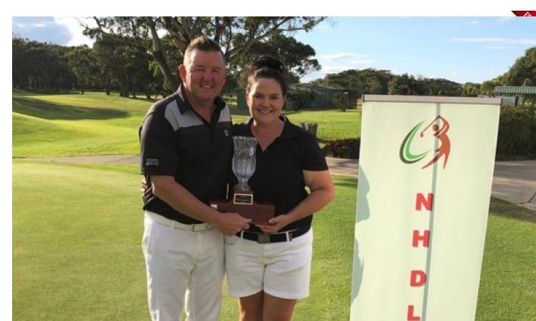 District Mixed Foursomes Open Scratch winners